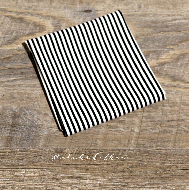 Michael Miller Fabric Mini Mikes In Little Stripes Black 12 Yard
