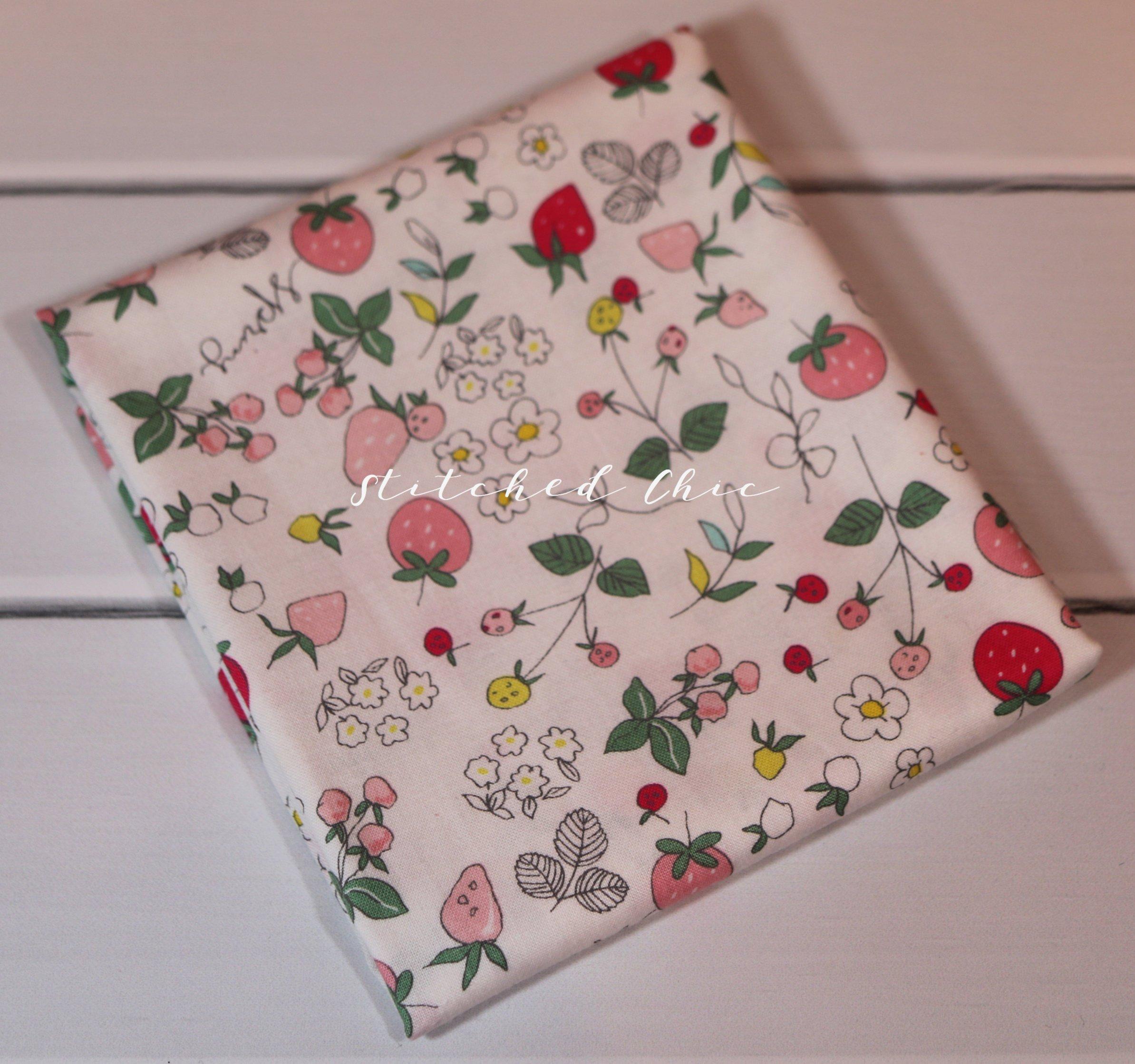 Riley Blake Serendipity in Strawberries Cream by Minki Kim | 1/2 ...