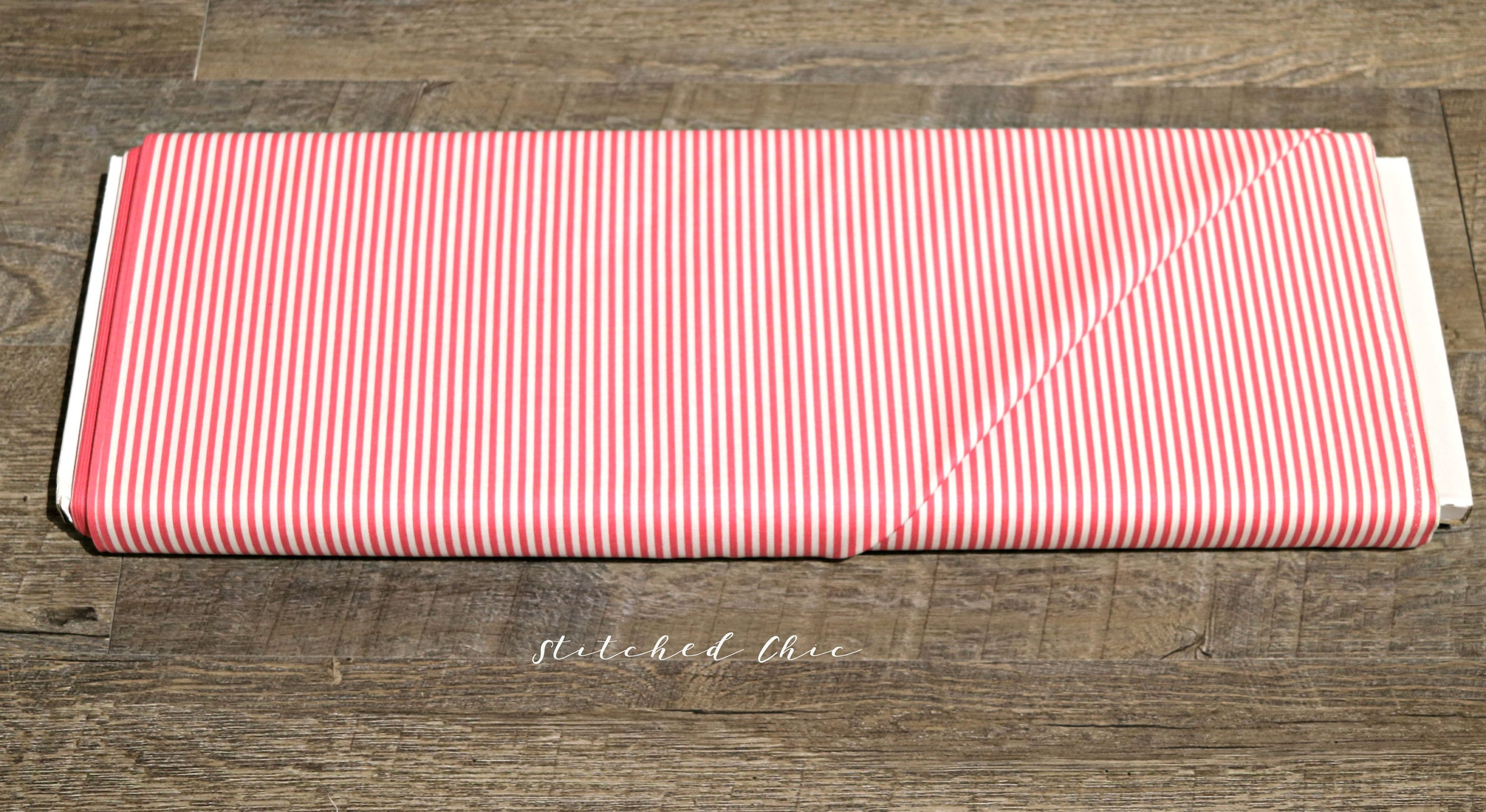Riley Blake Stripes in Hot Pink | 1/2 Yard | Modern Cotton Fabric | Pink  and White 1/8
