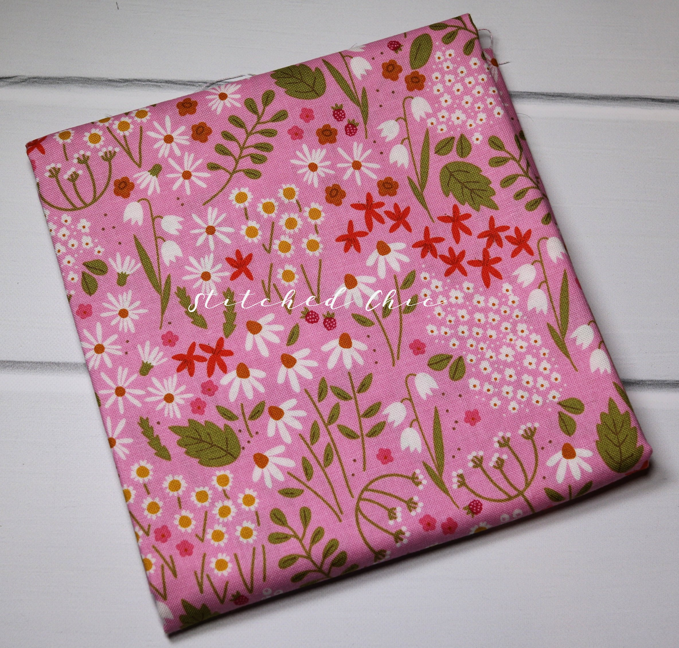 Riley Blake Wild Bouquet in Wildflowers Pink by Citrus & Mint | 1/2 ...