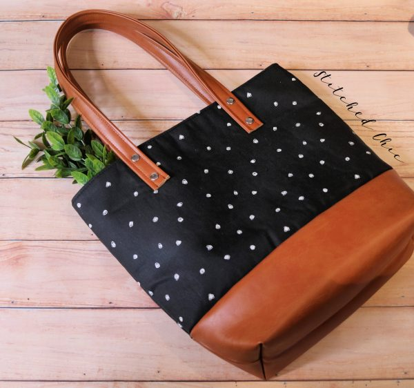 Modern Tote Bag by Stitched Chic