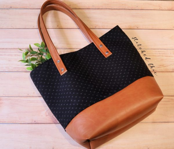 Woven Cotton Tote by Stitched Chic